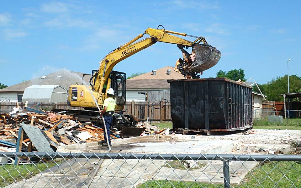 House Demolition after Hurricane Harvey